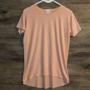 LulaRoe Simply Comfortable Tee, soft pink color